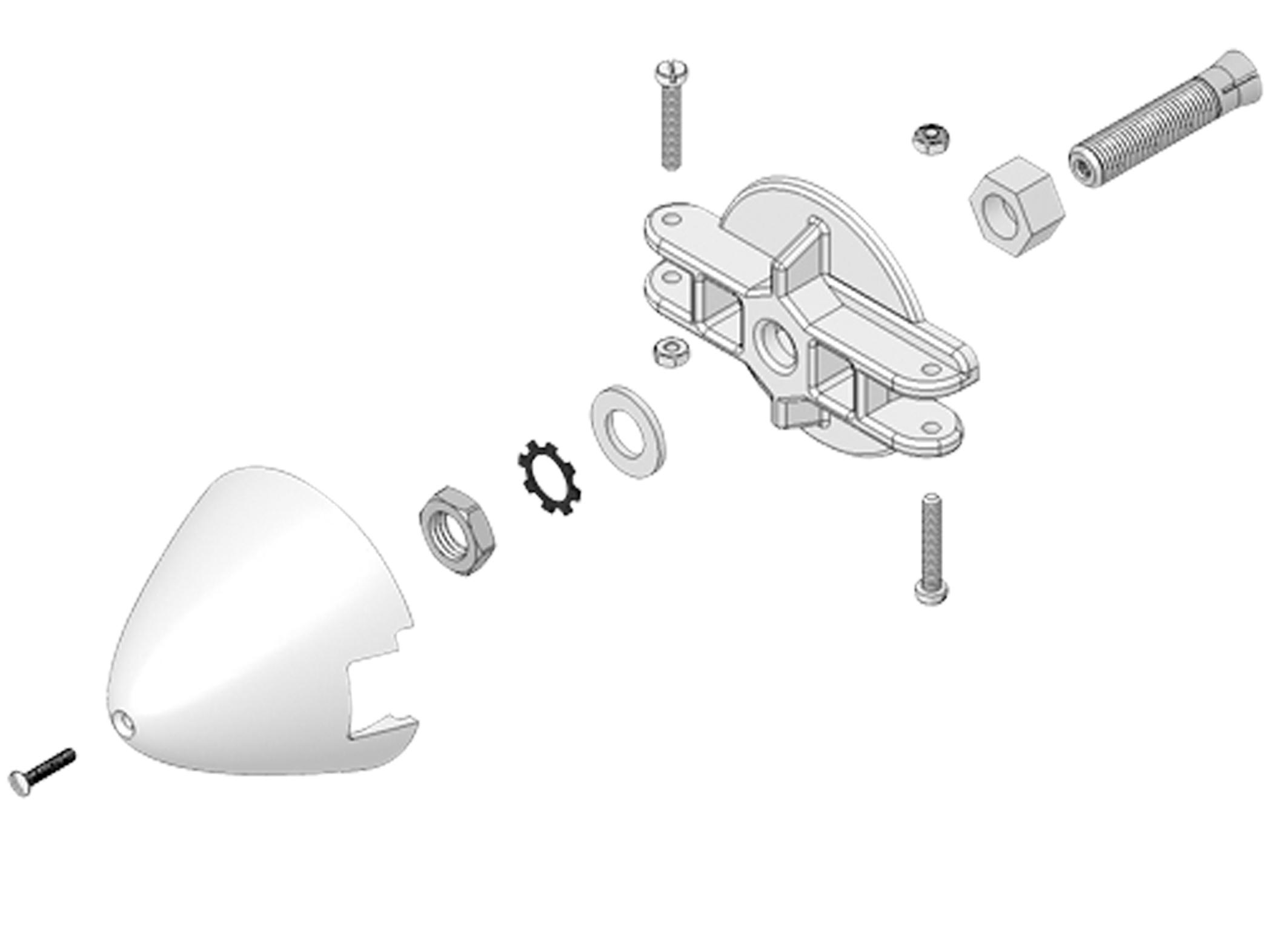 Adapter Motorw.5mm,Blatthalter,Spinner 54mm Solius